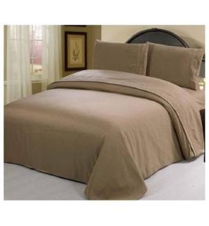 DT BED SHEET SET BROWN/QUEEN