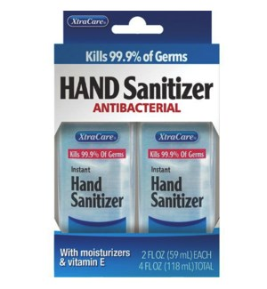 XTRACARE #6691/2PK HAND SANITIZER MOST+VIT E
