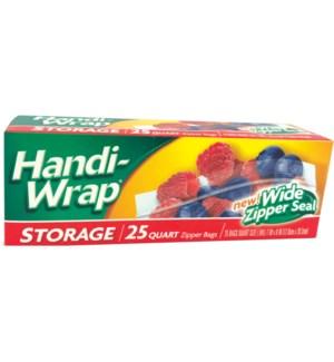 HANDI WRAP STORAGE BAGS WIDE ZIPPER SEAL #39503