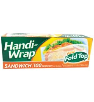HANDI WRAP SANDWICH BAGS FOLD TOP #39514