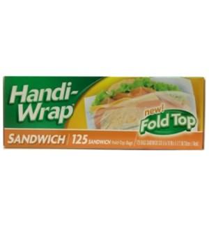 HANDI WRAP SANDWICH BAGS FOLD TOP #39533