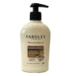 YARDLEY HAND LOTION #67468 OATMEAL & ALMOND