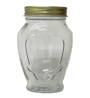 GLASS JAR #37AL12 W/LID