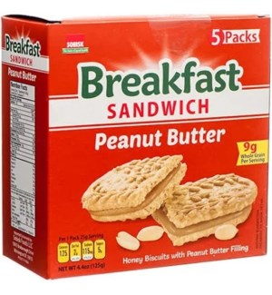 SOBISK #575 PEANUT BUTTER BREAKFAST SANDWICH