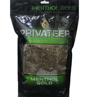 PRIVATEER #404 MENTHOL GOLD PIPE
