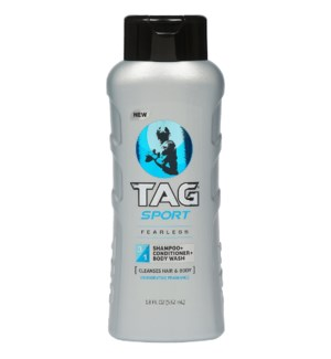 TAG SPORT BODY WASH #00882 FEARLESS 3IN1