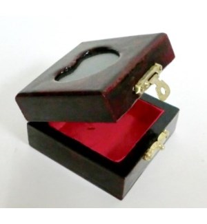JEWLERY BOX #1 SQUARE W.HEART