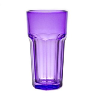 DRINKING GLASSES #0650A PURPLE/ORANGE