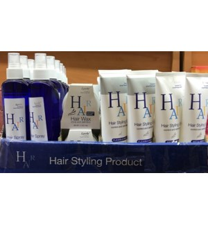 HAIR STYLING PRODUCT DISPLAY