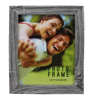 PICTURE FRAME GRAY WOOD #1A-5