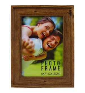 PICTURE FRAME BROWN WOOD #1C-5