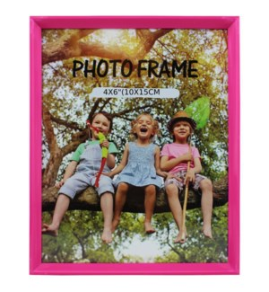 PICTURE FRAME HOT PINK PLASTIC #6A-4