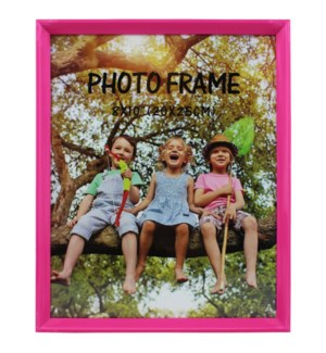PICTURE FRAME HOT PINK PLASTIC #6A-8