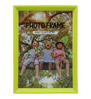 PICTURE FRAME NEON GREEN PLASTIC #6B-4