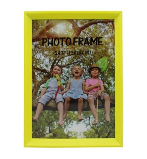 PICTURE FRAME NEON GREEN PLASTIC #6B-5