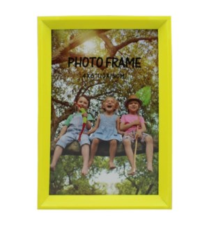PICTURE FRAME NEON YELLOW PLASTIC #6C-4