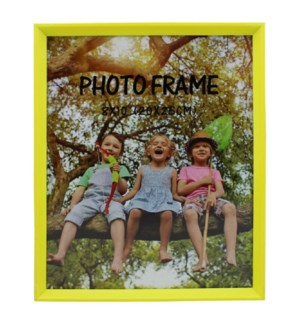 PICTURE FRAME NEON YELLOW PLASTIC #6C-8