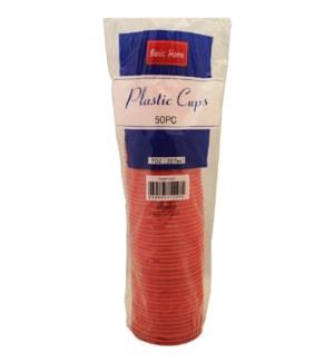 PLASTIC CUP 7OZ RED