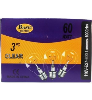 LIGHT BULBS #08087 3PK BULB