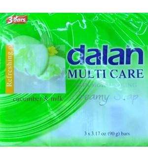 DALAN BAR SOAP #17923 CUCUMBER & MILK 2IN1