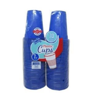 PLASTIC CUPS 7OZ - BLUE