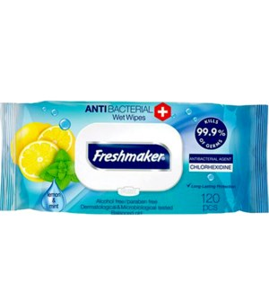 FRESHMAKER #75741 ANTIBACTERIAL WIPES LEMON/LIME
