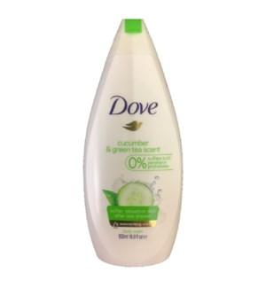 DOVE BODY WASH #0292 CUCUMBER GREEN TEA