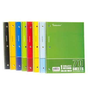 UC-1928 1 SUBJECT NOTE BOOK COLLG RULLED