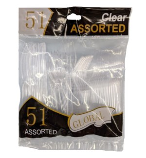 GLOBAL #92851 ASST CUTLERY PLASTIC COMBO