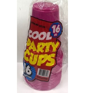 PLASTIC CUP #39728 PINK