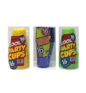 PLASTIC CUP 16OZ #98600 ASST