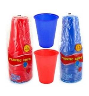 PLSTIC CUP 9OZ #3808 RED/BLU (COOL CUPS)