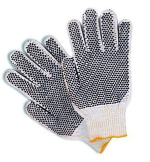 G.GLOVES #05994 KNIT W/DOTS