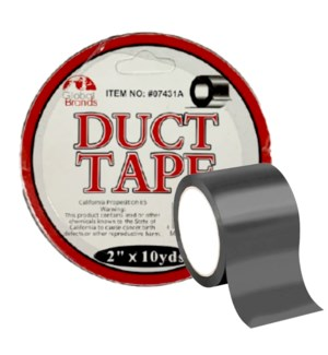 GLOBAL #GT07431 DUCT TAPE BLACK