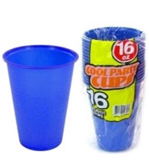 PLASTIC CUP 16OZ #0758 BLUE CUPS