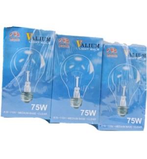 LIGHT BULBS CLEAR 75W