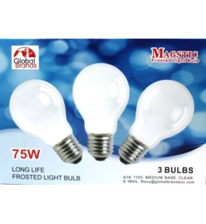 LIGHT BULBS #08070 3PK BULB