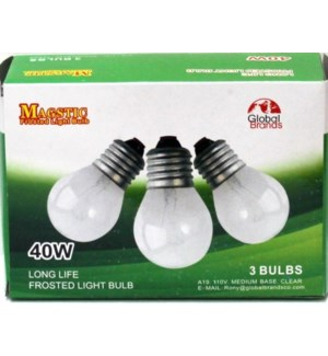 LIGHT BULBS #08094 (FROSTED 3PK/40W)