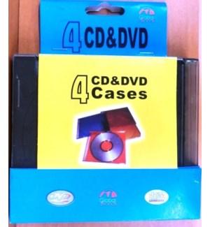 GL #4CDBOX/5MM CD/DVD CASES