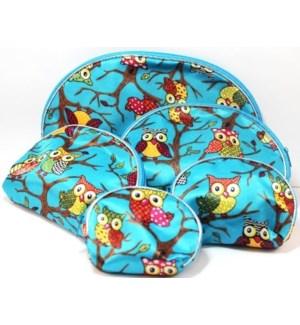COSMETIC BAG #33061 OWL PRINT
