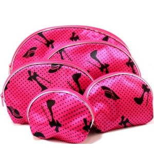 COSMETIC BAG #33063 HATS & SHOES PRINT