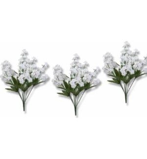 FLOWERS #10238 WHITE BABY BREAH BUSH