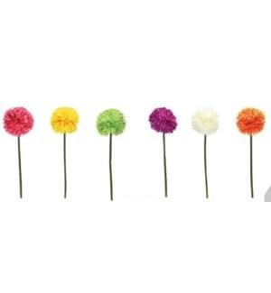 FLOWERS #6077 SPRING SINGLE POM POM STEM