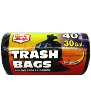 U #IN00402 TRASH BAG ROLL BLACK
