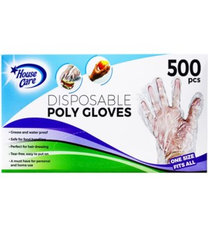 DISPOSABLE POLY GLOVES #CH10055 CLEAR