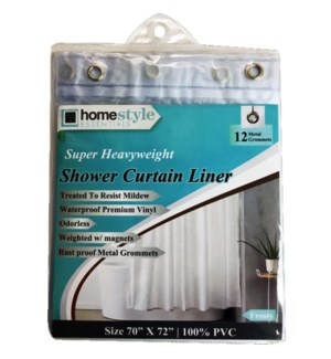 SHOWER CURTAIN LINER #CH10240 FROSTY