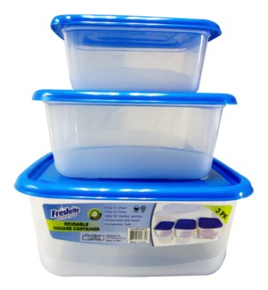 REUSABLE CONTAINER #IN24835 SQUARE