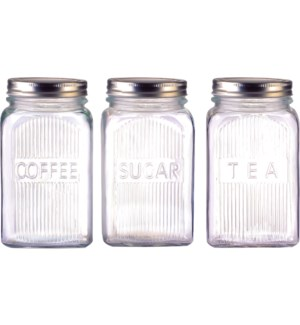 GLASS CANISTER #CH26919 FOR SUGAR