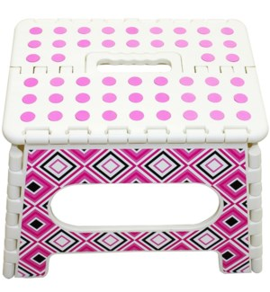STEP STOOL #CH86202 PRINTED FOLDABLE