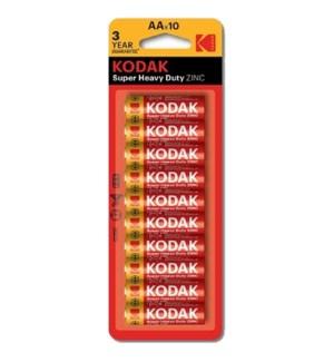 KODAK BATTERIES AA-10